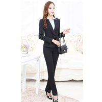Wholesale Women S Work Attire - Business attire women's suit long sleeve custom made formal occasion high quality working suit two-piece jacket+pants