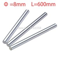 Wholesale X Axis Linear - Wholesale- 2pcs 8mm 8x600 linear shaft 3d printer 8mm x 600mm Cylinder Liner Rail Linear Shaft axis cnc parts