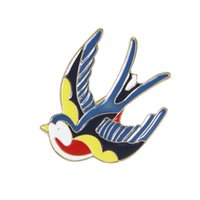 Wholesale Colorful Enamel Bird Shape Big Brooches for Women