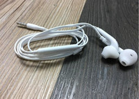 Wholesale High Quality Noodle Earphones - 2000pc High Quality TPE Noodle Earphones For S6 S7 edge Galaxy Headphone In Ear Headset With Mic Volume Control For Iphone 5 6s Black white