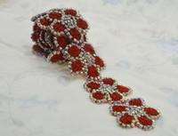 hot fix silver achat en gros de-(1yard) hot-fix à coudre strass Applique pour mariage bébé chapeaux maison jardin décoration rouge argent