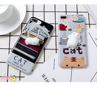 Kawaii 3D Squeeze Katze Seal Panda Silikon Lovely Case für iPhone 7Plus Cute Tier Squishy Stretchy Spielzeug Telefon Skin Cover Fidget Stress Relief