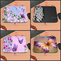 Wholesale decorated butterflies - Beautiful Colorful Butterflies and Flowers Game Antiskid Rectangular Computer Mouse Pad, Custom Size, Decorate Your Desk Design
