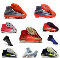 Wholesale Soft Natural Rubber - Mercurial Superfly CR7 FG Boots Ronaldo natural diamond color soccer cleats Sports Shoes Mens Football Boots Cleats