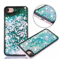 Wholesale Iphone 5s Sparkle Cases - Quicksand Sparkle Bling Liquid Glitter Stars Love Heart Dynamic PC + TPU Bumper Case For iPhone 5 5S SE 6 6S 7 Plus iPhone7
