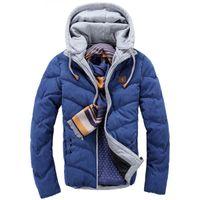 Wholesale Fur Coats For Sale - Wholesale- Top Sale 2016 Winter Cotton Jacket Men Thermal Winter Overcoat Fur Hooded Coat For Men Women Lovers Thickening Casual Coats