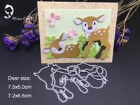 Wholesale Scrapbook Paper Baby - METAL CUTTING DIES shape dies baby deer reindeer sleep pic collage Scrapbook card album paper craft home embossing stencil cuts