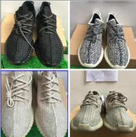 Wholesale Green Lighters - New Version update Shoes PU&Wide 350 boost shoes lighter Moonrock Oxford Tan Pirate Black Full Black Running shoes snakers drop ship