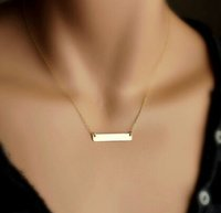 Atacado- Bovvsky Simple Punk Clavicle Necklace Gold Plated chain Custom Bar Statement Colar Inicial para mulheres