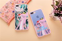 Wholesale Panther Cover - New arrival fashion cartoon Pink Panther Soft Gel TPU finger ring holder Phone Cases For iPhone 6 6S,7 7 Plus Back Cover