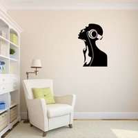 Wholesale Music Vinyl Wall Art - Dj Music Headphones Ear Vinyl Quote Funny Wall Stickers Personality Art Room Removable Decals Diy Decor
