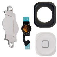 Wholesale Home Button Gasket - 10sets lot for iphone 5 home button keypad Menu + flex cable + holder gasket rubber + metal spacer for iphone 5G Home Button Set
