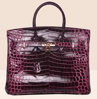 Wholesale Leopard Style Clutch - crocodile bag tote shoulder bride wendding bags purse clutch flap women wallet handbag tote lady UK France DE genuine leather bags US EUR