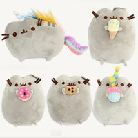 "Wholesale Stuffed Christmas Dolls Wholesale - 10PCS LOT 5 Different styles 6"" 15CM Pusheen Cookie & Icecream & Doughnut Cat Plush Stuffed Animal Doll Toy Free Shipping"