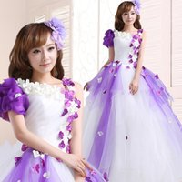 Wholesale Cheap Quinceanera Ball Gown - Elegant light purple quinceanera dresses 2017 cheap lace up one shoulder tiered cascading ball gowns evening dress prom gown party dress