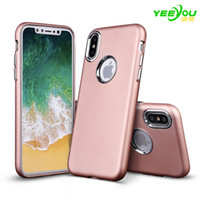 Wholesale Note Hard Case Design - For iPhone X Case Note 8 Matte Frosted Slim Shockproof Electroplating Hard Plastic Back Cover Fashion Design For Apple phone Cases