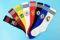 Wholesale Stocking Football Socks - Real Madrid Argentina Italy Chelsea AC milan Netherlands KIDS Soccer Socks Boys Football team game club Training game sports Stocking