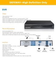 Wholesale Dvr Kit Hard Drive - DEFEWAY 1080N DVR 1200TVL 720P HD Outdoor Security Camera System 1TB Hard Drive 4CH DVR CCTV Surveillance Kit AHD Camera Set