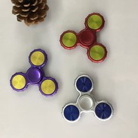 Wholesale Use Toys Wholesale - New Arrival Hand Spinners 7 colors Fidget Spinners Use Imported Flange Bearing Spiners Anti-Anxiety Decompression Toys EDC Toys Up to 4 Min
