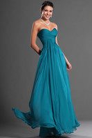 Wholesale Bridesmaid Dress 22 - Sweetheart Long Chiffon Prom Dress Party Gown Evening Dresses Floor Length Bridesmaid Dresses Custom made Dresses new