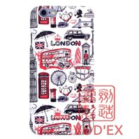 Wholesale London Cases - Vodex cases United Kingdom London element fluorescent water mobile phone protection shell 3D relief for iPhone7 plus cases