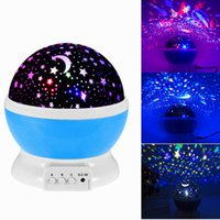 Wholesale starry rotation projector for sale - Group buy 2016 Christmas Projector Rotation Starry Star Night Light Moon Sky Romantic Night Projector Light Lam Decorating Wedding Birthday Party hot