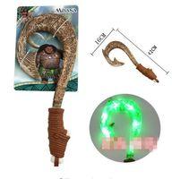 Wholesale Toy Sword Knives - Moana Light Sword Toy Music Marine Magic Fish Hook Knife Moana Doll Toys DHL Free Shipping