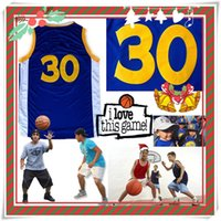 Wholesale Children S Christmas Gifts Cheap - YOUTH KID Children Christmas Gift Stitched Swingman Curry #30 Golden Statel Jersey Cheap Promotion Sport Wolesale Present Hot Birthday