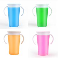 Wholesale Bite Trainer - New Miracle 360 Trainer Cup Leakproof cup Silicone Child Training Cup Practice children with bite mugs dhl Shipping