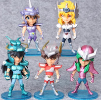 Wholesale Zodiac Action Figure - 5pcs lot 10cm Saint Seiya Action Figures Knights of the Zodiac Doll Janpaness Anime Cartoon Toys Kids Christmas Gifts