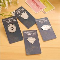Wholesale 48 Movie Stars Metal Bookmarks Super Hero Paper Clips for Book Holder Bookmark Stationary Office School Supplies