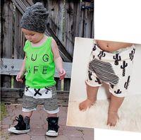 Wholesale Boys Shorts Harems - Baby Boy Harem Short Pants Kids Clothes Fashion Summer Children Striped Cactus Cotton Shorts For Boys DHL Free Shipping