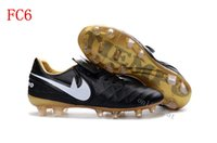 Wholesale Discount Indoor Soccer Shoes - New Football Shoes Tiempo Legend VI FG Men Cleats High Quality Soccer Trainers Boots Discount Sports Shoes Size 6.5-11