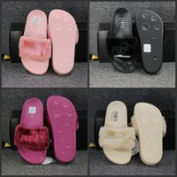 Wholesale Cheapest Leather Slippers - 2017 Wholesale Cheap Puma Leadcat Fenty Rihanna Shoes Men Women Slippers Indoor Sandals Girls Scuffs Cheap Fur Slides Fashion High Quality