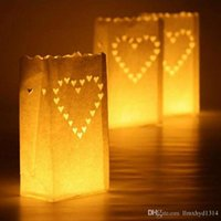Tea Light Holder Luminaria Paper Lantern Sac à bougies pour fête de noel Outdoor Wedding Decoration 2017 Nouveau