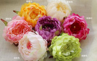 Wholesale Single Headed Peonies - artificial decorative peony heads simulation DIY silk flower head for wedding home party decoration high quality flowers FB014