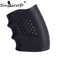 Wholesale Wholesale Glock - Tactical Pistol Rubber Grip Glove Cover Sleeve Anti Slip for Most Glock Pistol Handguns Airsoft Hunting Accessories