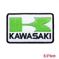 chaqueta de moto kawasaki al por mayor-KAWASAKI Motocicletas Ninja Racing Super Bike Chaqueta Cap Applique IRON ON PATCH Pegatinas Accesorios de ropa parche