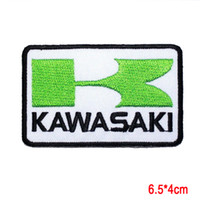 Wholesale Kawasaki Cap - KAWASAKI Ninja motorcycles Racing Super Bike Jacket Cap Applique IRON ON PATCH