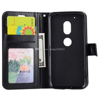 Wholesale E3 Card - Wholesale For Moto G4 Play E3 Luxury Vintage Style Crazy Ma Wen PU Leather Flip Phone Cases Card Holder Stand Phone Case