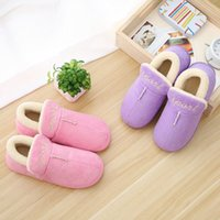 Wholesale Women Flat Slipper Boots - warm winter fashion women men shoe shoes cotton outdoor slipper slippers designer snow boot boots lovers ladies lady plush fur covered hell