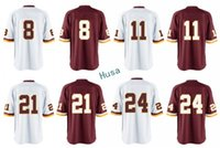 Wholesale Desean Jackson - Men Game Stitched 8 Kirk Cousins 11 Desean Jackson 21 Sean Taylor 24 Josh Norman White Red Mix Order jerseys