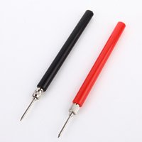 Wholesale 2Pcs L120mm Spring Test Probe Tips Insulated Test Hook Wire Connector for Multimeter