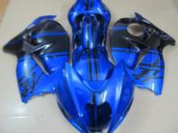 Wholesale Abs Hayabusa Fairings Kit Blue - Bodywork fairing kit for Suzuki GSXR1300 96 97 98 99 00 01-07 blue black fairings set GSXR1300 1996-2007 OT07