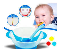 Wholesale Product Sense - Baby Bowl Spoon Set with Slip-Resistant Temperature Sensing Feeding Product Learnning Dishes