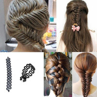 Wholesale hair bun maker twist tool resale online - French Hair Braiding Tool Braider Roller Hook With Magic Hair Braid Twist Styling Bun Maker Hair Accessories for for for Women Girls