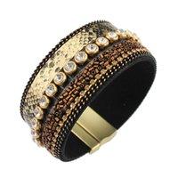 Wholesale Europe Fashion Charm Bead Bracelet - Wholesale- Bracelet Wholesale 2017 New Fashion Jewelry pu Leather Bracelet for Women Bangle Europe Beads Charms Magnetic Bracelet