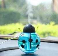Wholesale Mini Abs Light - 2016 New Mini USB Portable Ultrasonic Beetles Humidifier Air Diffuser Mist Maker DC 5V ABS Bottle Led Light For Home Office Car