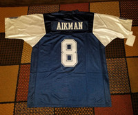 Wholesale Thanksgiving Jerseys - Throwback Troy Aikman Roger Staubach 22 Emmitt Smith 33 Tony Dorsett 88 Michael Irvin Deion Sanders White Blue Thanksgivings Retro Jerseys