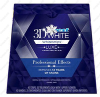 Wholesale Wholesale 3d White Strips - 40 Strips ( 20 Pouch )   1 Box Crest 3D Whitestrips Luxe Professional Effects White Whitening Teeth Strips Free shipping